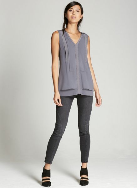 Mint Velvet Smoke Layer Bib Tunic