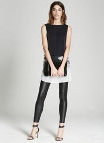 Mint Velvet Leather Look Legging