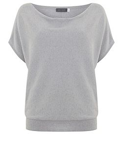 Lilac Short Sleeve Batwing Knit