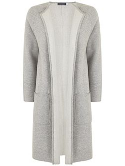 Silver Grey Double Faced Knitted Coat
