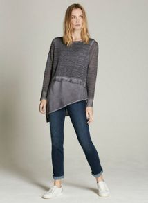 Mint Velvet Mercury Asymmetric Shirt Tail Knit