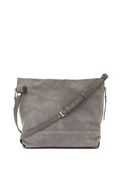 Mint Velvet Grey Ivy Suede Cross Body