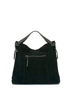 Black Millie Leather Slouch Tote