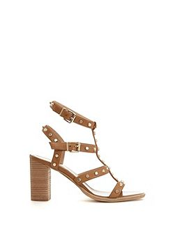 Tan Billie Studded Strap Sandal