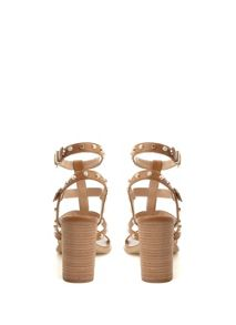 Mint Velvet Tan Billie Studded Strap Sandal
