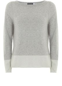 Mint Velvet Silver Grey Side Split Knit