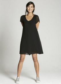Mint Velvet Black Trapeze Dress