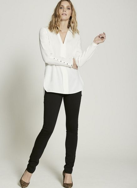 Mint Velvet Ivory Wrap Back Shirt