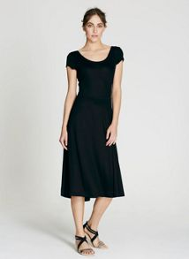Mint Velvet Black Ballet Jersey Dress