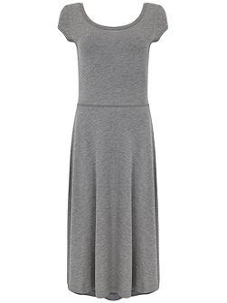 Grey Marl Ballet Jersey Dress