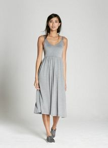 Mint Velvet Grey Strappy Jersey Dress
