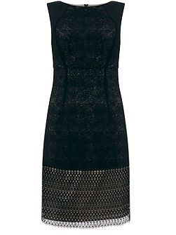 Black Mesh Lace Dress