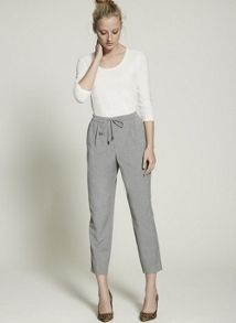 Mint Velvet Silver Grey Flannel Sports Pant