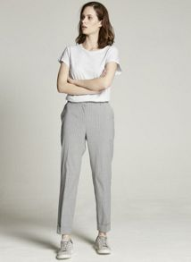 Mint Velvet Silver Pinstripe Tailored Trouser