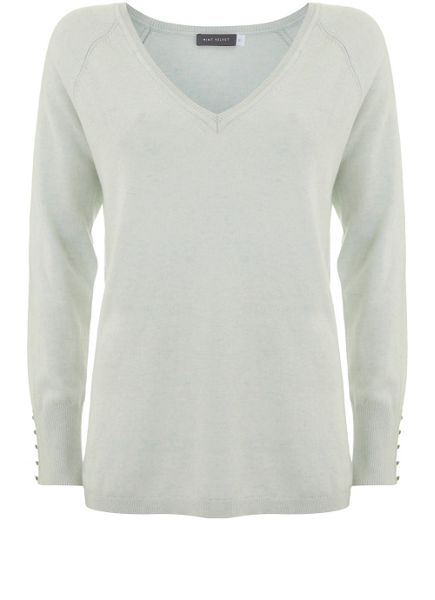 Mint Velvet Mint V-Neck Side Split Knit