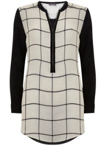 Mint Velvet Check Lace Cape Tunic