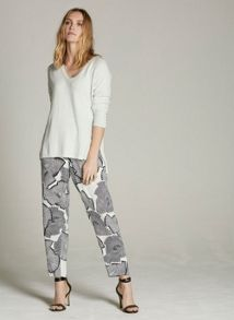 Mint Velvet Mara Print Tapered Trouser