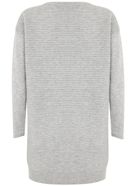 Mint Velvet Silver Grey Patch Pocket Knitted Dress
