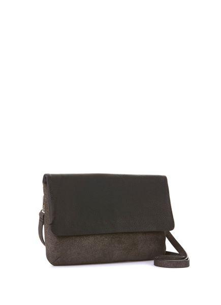 Mint Velvet Gunmetal & Black Madison Cross Body