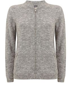 Silver Grey Fluffy Bomber