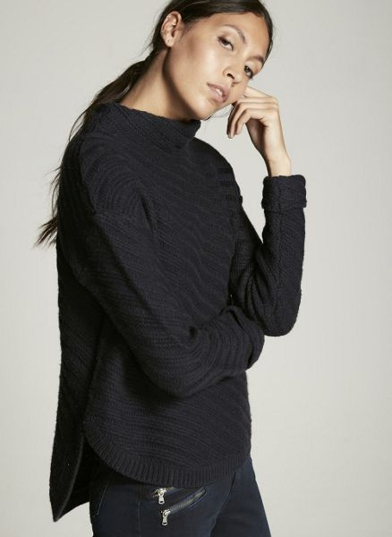 Mint Velvet Navy Stitch Cocoon Knit
