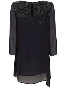 Mint Velvet Navy Sequin Tunic