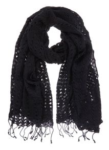 Mint Velvet Black Lace Scarf