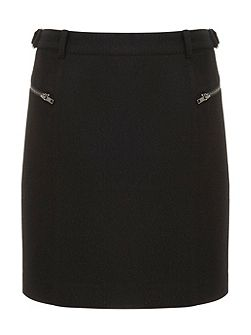 Metallic Black cargo Skirt