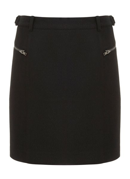 Mint Velvet Metallic Black cargo Skirt