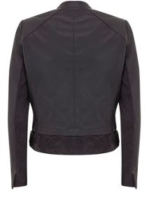 Mint Velvet Smoke Leather Bomber Jacket