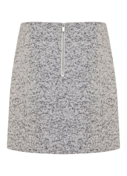 Mint Velvet Winter White Textured Zip Skirt
