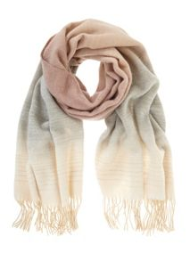 Mint Velvet Blush Winter Ombre Scarf