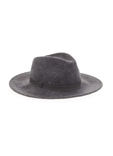 Mint Velvet Grey Wide Brim Fedora Hat