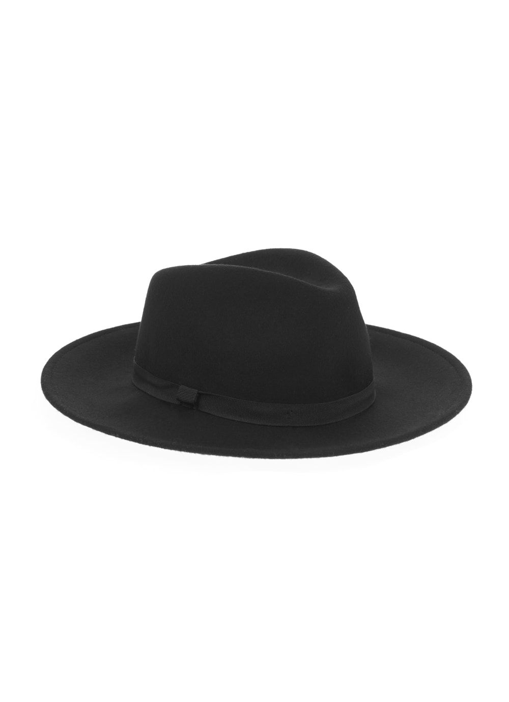 Mint Velvet Black Wide Brim Fedora Hat Black