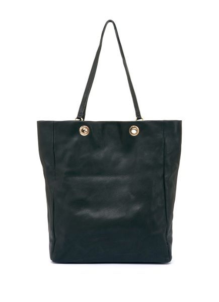 Mint Velvet Black Cara Patch Pocket Shopper