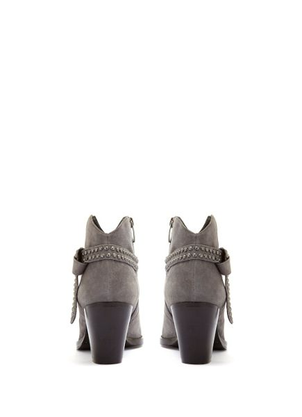Mint Velvet Grey Ava Stud Knotted Strap Ankle Boot