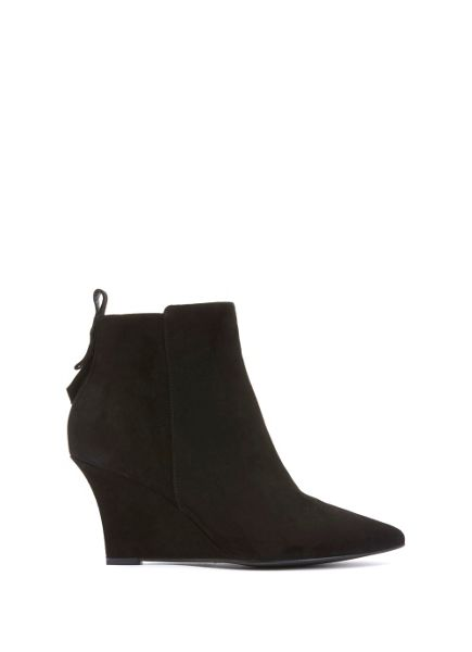 Mint Velvet Black Amie Suede Wedge Ankle Boot