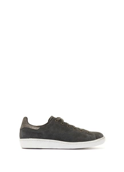 Mint Velvet Charcoal Lydia Suede Lace Up Trainer