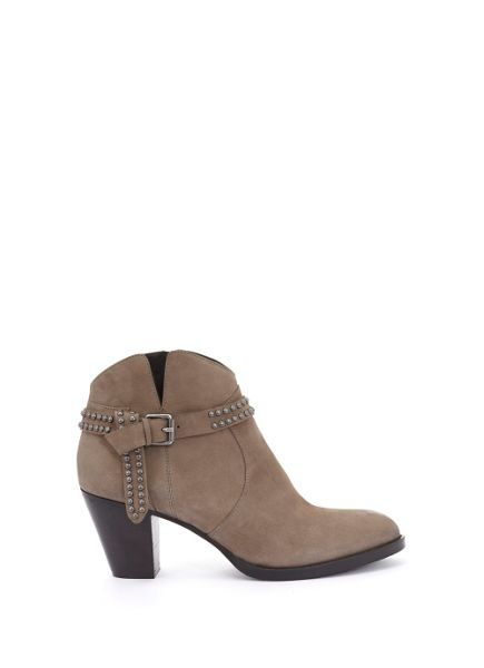 Mint Velvet Taupe Ava Knotted Strap Ankle Boot