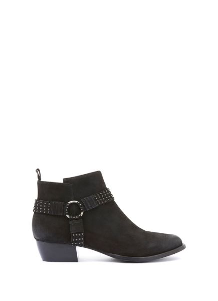 Mint Velvet Black Betty Studded Ankle Boot