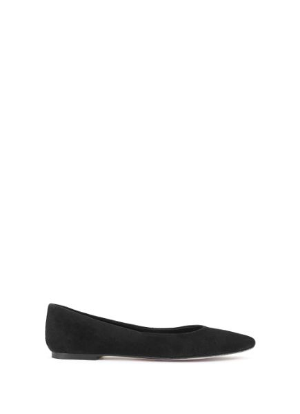 Mint Velvet Black Nika Pointed Ballet Pump