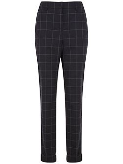Navy Check Trouser