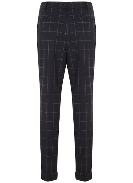 Mint Velvet Navy Check Trouser