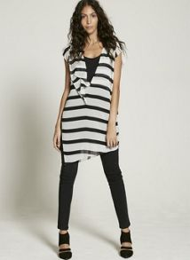Mint Velvet Stripe Assymetric Tunic