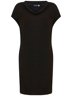 Black Cowl Neck Slouch Dress