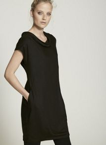 Mint Velvet Black Cowl Neck Slouch Dress