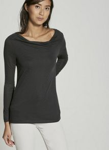 Mint Velvet Khaki Burnout Layered Tee