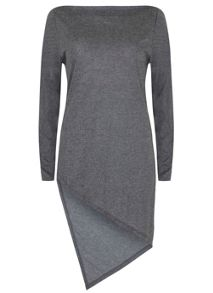 Mint Velvet Granite Marl Asymmetric Hem Tunic