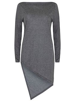 Granite Marl Asymmetric Hem Tunic