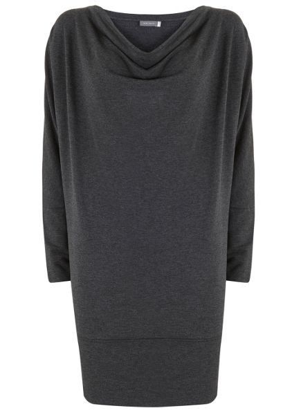 Mint Velvet Charcoal Batwing Cowl Neck Dress